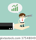 Businessman is talking about growing up graph. 37548049