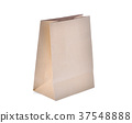 recycle brown paper bag isolated on white  37548888