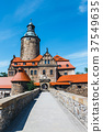 Czocha castle on blue sky in the background 37549635