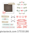vector frame wedding 37550186