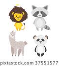 cartoon cute animals 37551577