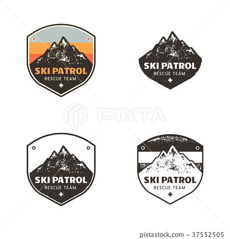Ski Club, Patrol Labels. Vintage hand drawn 37552505