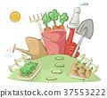 Garden Plot Tools Illustration 37553222