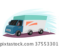 Delivery Truck Moving Illustration 37553301