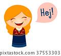 Kid Girl Costume Danish Speech Hello 37553303