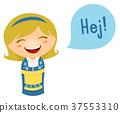 Kid Girl Costume Swedish Speech 37553310
