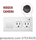 Hidden camera in an electrical outlet. 37554026