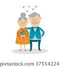 vector, couple, elderly 37554224