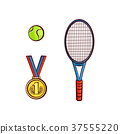 tennis ball medal 37555220