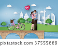 Illustration of Love and Valentine Day 37555669