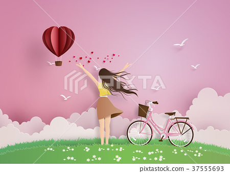 Illustration of love and valentine day 37555693