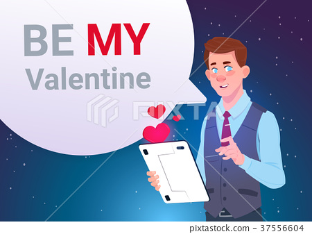Be My Valentine Invitation Greeting Card Man 37556604