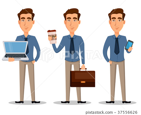 Business man, set of 3 poses 37556626