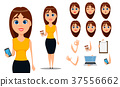 business woman cartoon 37556662