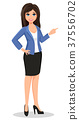 Business woman in office style clothes showing 37556702