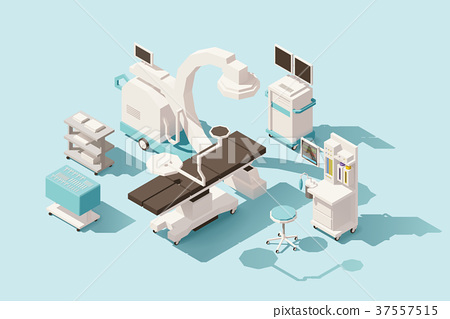 Vector isometric low poly operating room 37557515