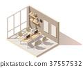vector, isometric, room 37557532
