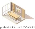 vector, isometric, office 37557533