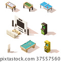 Vector isometric low poly games set 37557560