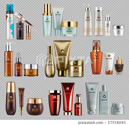 Cosmetics Vector realistic package template bundle 37558093