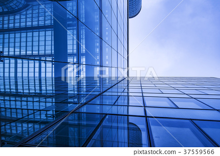 Office building in blue tones - detail view 37559566