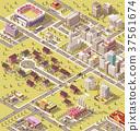 vector, Isometric, city 37561674