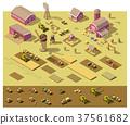 vector, farm, Isometric 37561682