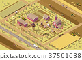 Vector isometric low poly farm 37561688