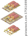 Isometric vector warehouse 37561699