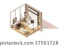 Vector isometric low poly Photo studio room icon 37561728