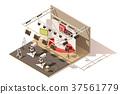 vector, isometric, studio 37561779