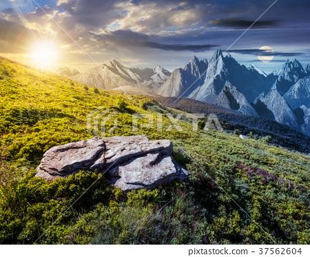 time change concept over the composite landscape 37562604