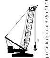 Crawler crane silhouette 37562929