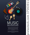 Musical instruments background 37563011