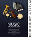 Musical instruments background 37563012