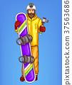 man, snowboarder, vector 37563686