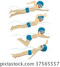 swimming, man, style 37565557