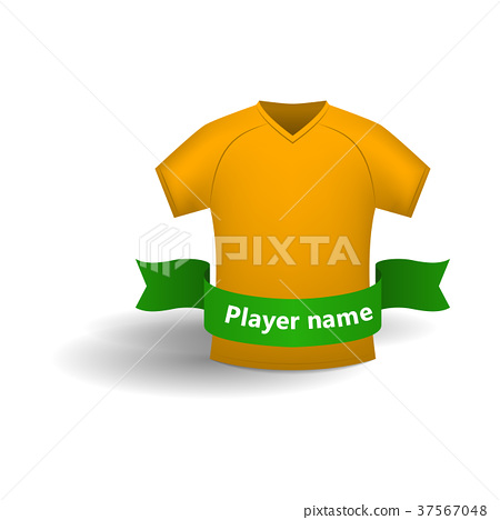 Orange sports shirt icon, cartoon style  37567048