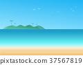 Vector illustration seascape background 37567819