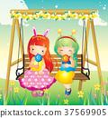 어린이, 친구, 사탕 37569905