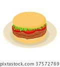 汉堡 图标 等大的 37572769