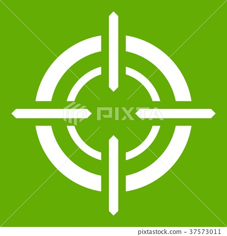 Target icon green 37573011