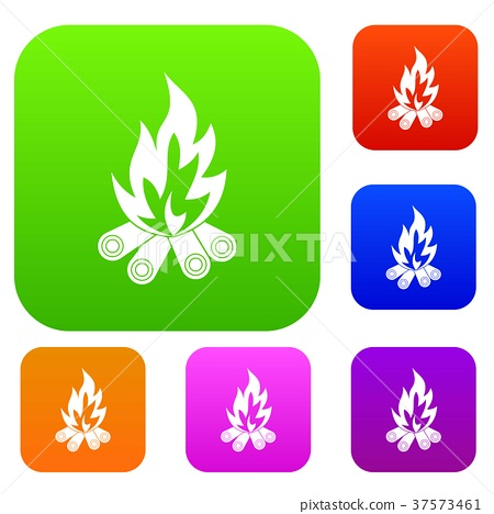 Bonfire set color collection 37573461