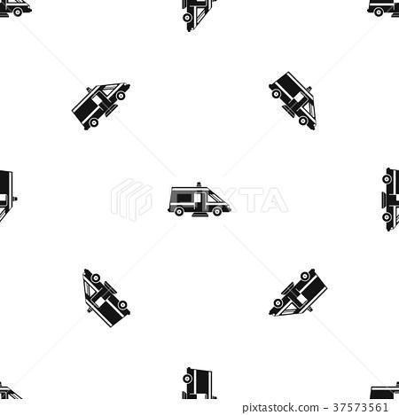 Ambulance pattern seamless black 37573561