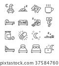 Sleep line icon set 37584760
