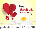 Illustration of love and valentine day 37586284