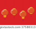 Chinese new year lanterns 37586313