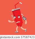 Soft Drink On The Run With Smartphone Health Conce 37587423
