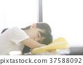 小学生放学后教室女孩 37588092