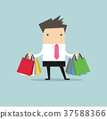 Businessman with shopping bags. 37588366